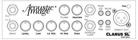 Acoustic Image Double Bass Amp - Clarus SL Front Diagram
