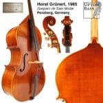 Horst Gruenert double bass