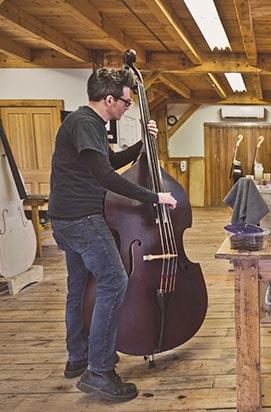 Jack Hanlon playing an upright bass