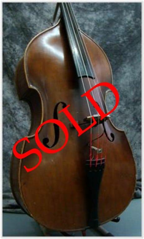 SOLD: Flat Back Czech Double Bass CA 1950