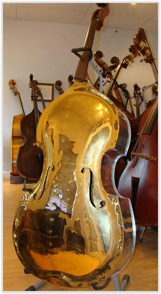 """SOLD: Pfretszchner Aluminum """"Gold Top"""" Double Bass"""