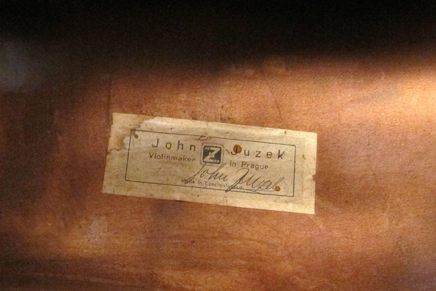 John Juzek Upright Bass 1950s Prague Label Double Bass