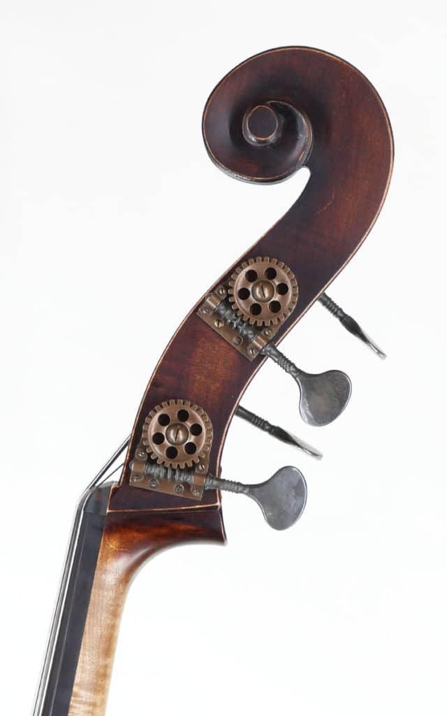 Upton Brescian Hybrid double bass Scroll